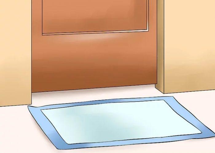 پد بهداشتی را نزدیک محل توالت فضای باز قرار دهید.