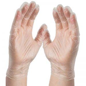 خرید اینترنتی دستکش ونیل رژمد سایز مدیوم
