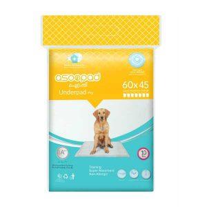 خرید پد زیرانداز بهداشتی سگ آسوپد سایز 45 * 60 شناسه محصول: 6269706300126