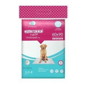 خرید پد ادرار آسوپد - زیرانداز بهداشتی مخصوص سگ آسوپد سایز ۶۰ * ۹۰ - SKU:6269706300027