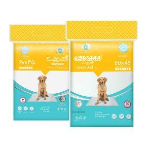 پد زیراندازهای بهداشتی سگ آسوپد مدل 45 * 60- شناسه محصول: 6269706300126